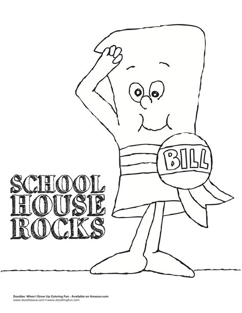 school house rocks coloring sheet doodles ave