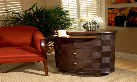 End table with drawers, rattan end table with drawer