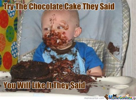 Baby Cake Meme - chocolate woman eating yummy baby rocket scribble memes