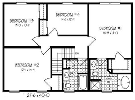 a christmas story house floor plan t213243 1g by hallmark homes two story floorplan