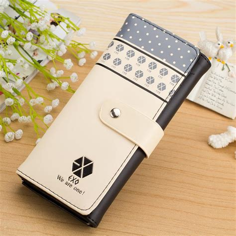 Topi Fashion Kpop Letter Simple popular kpop wallet buy cheap kpop wallet lots from china