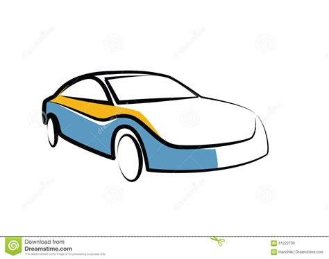 Auto Sketch by Simple Drawing Of A Modern Sports Car Auto Sketch Stock