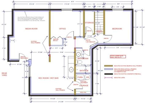 media room floor plans basement media room layout