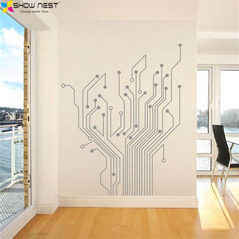 whole wall stickers aliexpress buy circuit tree contempory mural