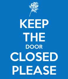 keep the door closed keep calm and carry on image