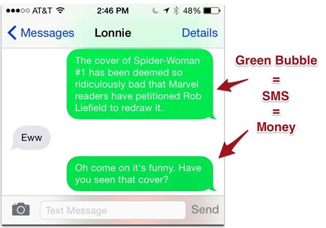 iphone message colors how to tell imessages from text messages the mac observer