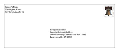 College Letter Envelope Format Student Mail And Package Receipt Gwinnett College