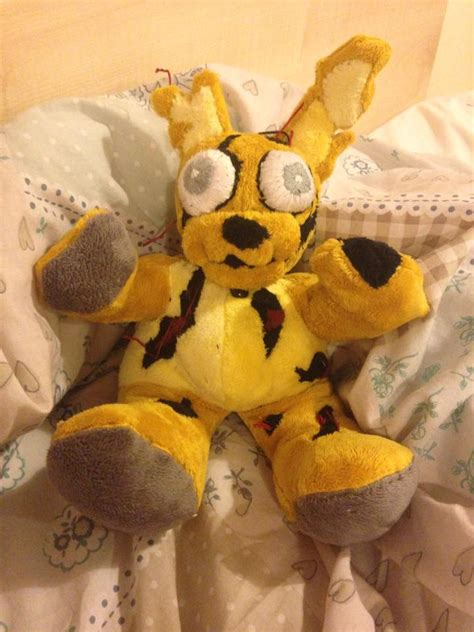springtrap plush springtrap plushie only one by theheirofnight on deviantart