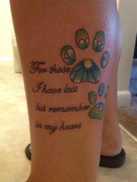 rainbow bridge tattoo i m memory of my babies that crossed the rainbow