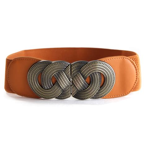 womens new waistbelts stretch elastic wide bunckle