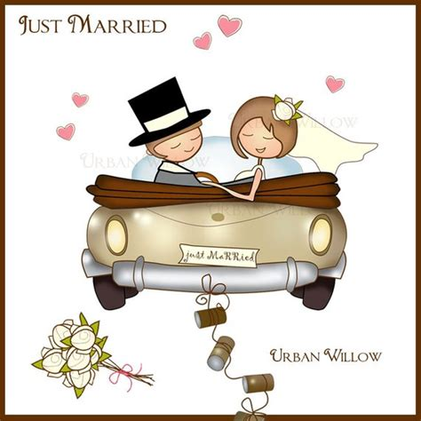 Just Married Auto Grafik by Just Married Clipart Auto Braut Und Br 228 Utigam Clipart