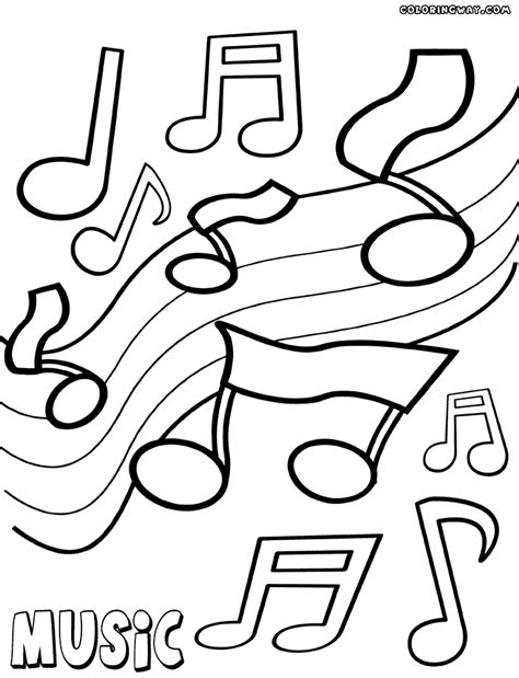 music coloring page music barney color page cartoon