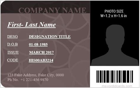 I Card Template Ms Office by 5 Best Office Id Card Templates Ms Word Microsoft Word