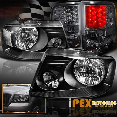 2006 f150 tail lights 2004 2005 2006 2007 2008 ford f150 f 150 black headlights