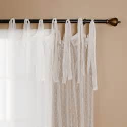 White Tie Top Curtains Best Home Fashion Swiss Dot Lace Curtains Tie Top White 52 Quot W X 84 Quot L New Ebay