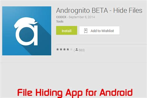hide files android how to hide files on your android with andrognito