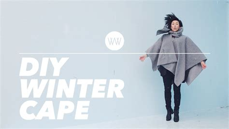 How To Make A Cape Out Of Paper - how to make a winter cape cloak poncho withwendy