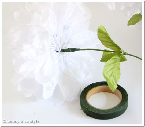 How To Make Stems For Paper Flowers - transform flowers to look real in my own style