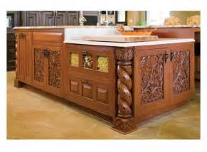 Wooden Kitchen Islands by Carved Wood Kitchen Island Furniture Arcade House