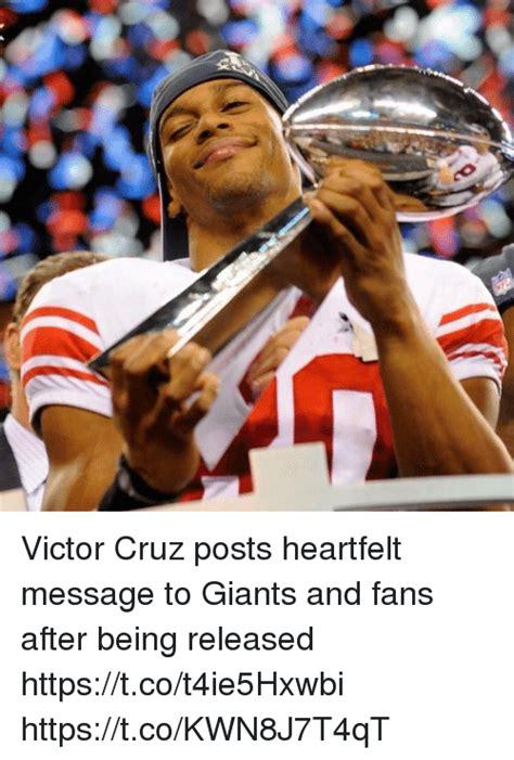Victor Cruz Meme - victor cruz posts heartfelt message to giants and fans