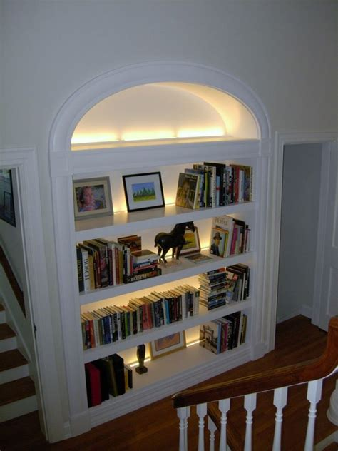 shelves with lights built in bookcases lighting and open bookcase on pinterest