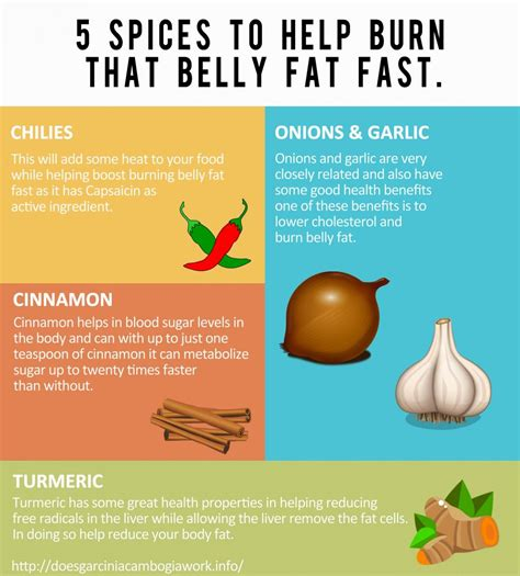 compounds in 5 herbs and spices that burn belly fast infographic quot a z about herbal