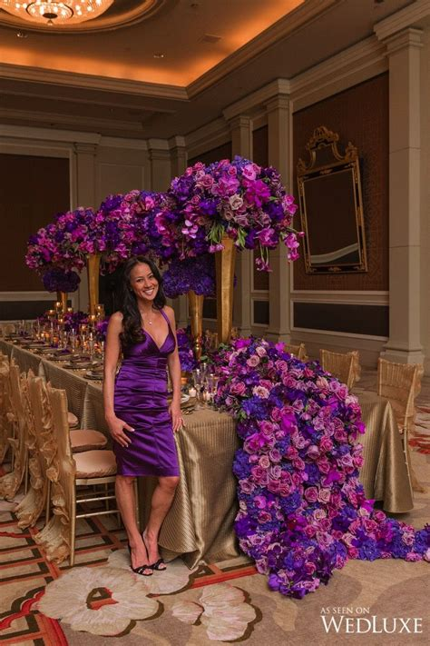 karen tran master floral class wedding colors purple