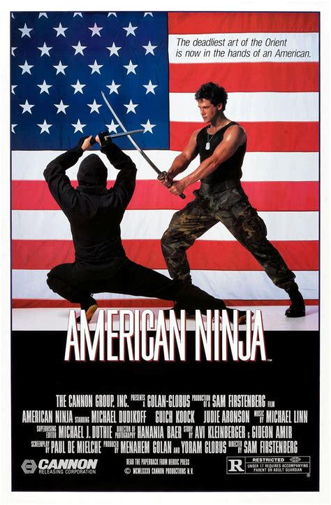 film online ninja 1 poster for american ninja 1985 usa wrong side of the art