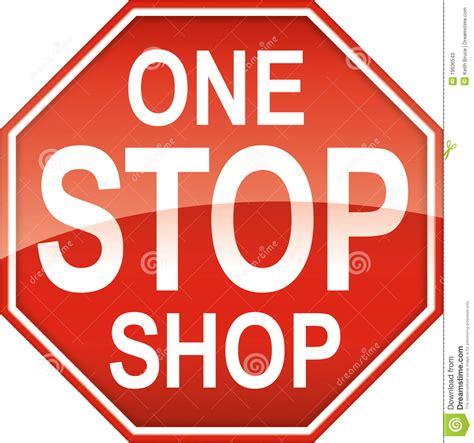 one stop shop sign symbol stock photos image 19936543