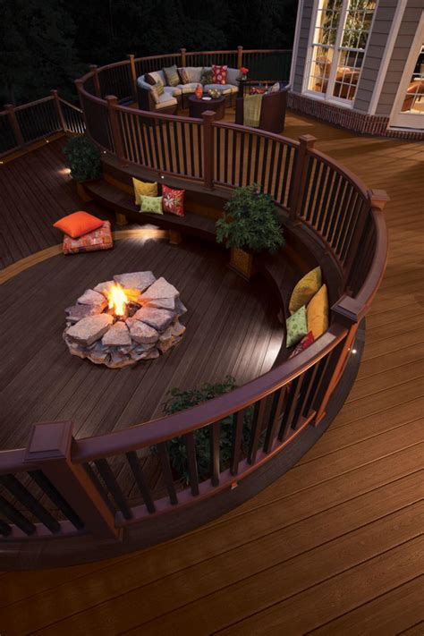 can you put pit on wood deck outdoor fireplace design ideas hgtv