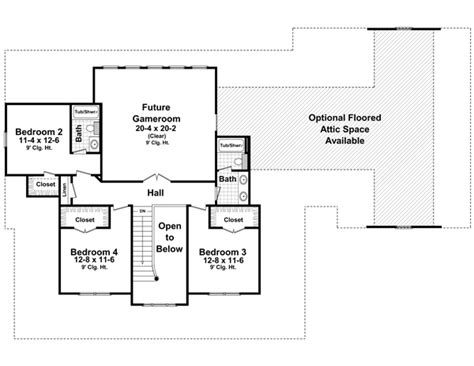 2nd floor house plans the hudson park 1600 4 bedrooms and 3 baths the house
