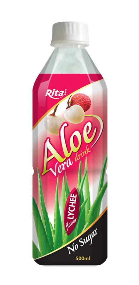 lychee bottle aloe vera juice nfc natural beverage from vietnam
