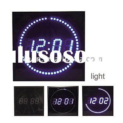 neon digital wall clock digital wall clock with circuit diagram digital wall