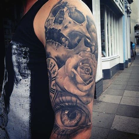 rose tattoo sleeve for men top 35 best tattoos for an intricate flower
