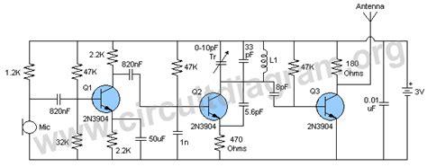 transistor for fm transmitter three stage fm transmitter circuit diagram
