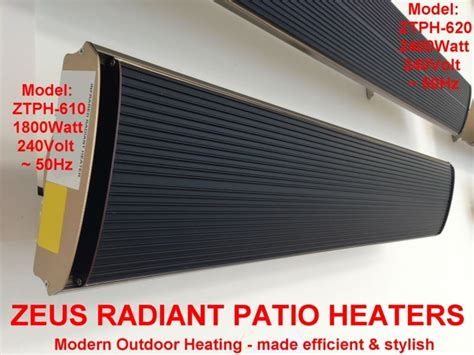 Zeus Patio Heater Zeus Radiant Patio Heaters Efficient Electric Outdoor Heating