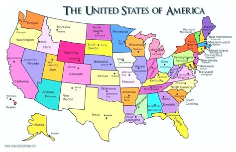 usa map states capitals and major cities us map states and capitals of maps state peterbilt info