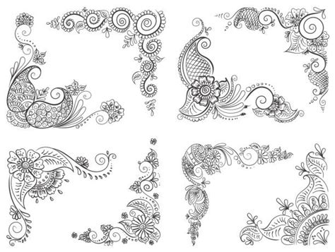 henna tattoo nrw royalty free mehndi corners clip vector images