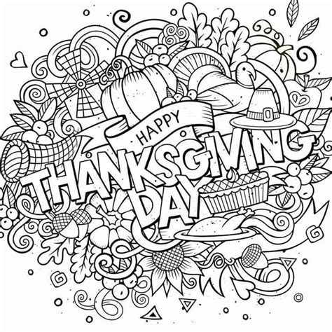 thanksgiving coloring pages for adults happy thanksgiving day coloring pages