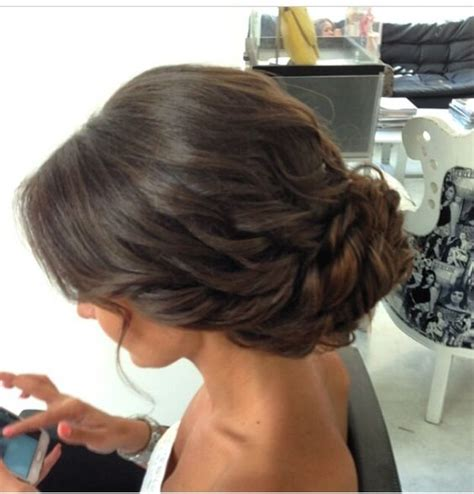 ball hairstyles updo buns low chignon bridal effortless looking hairstyle wavy