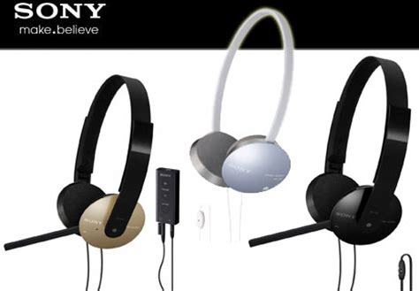 Headset Sony Dr 310 dr 350usb 320dpv and 310dp pc headsets proffered by sony techgadgets