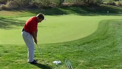 golf swing overhead view how to chip a golf ball youtube