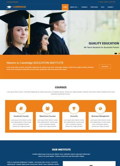 education website educational website themes and templates free