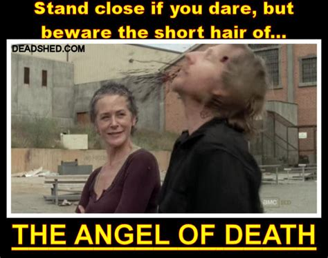Carol Walking Dead Meme - deadshed productions short haired danger the walking