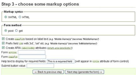html quick form tutorial 7 best online html form generators web graphic design