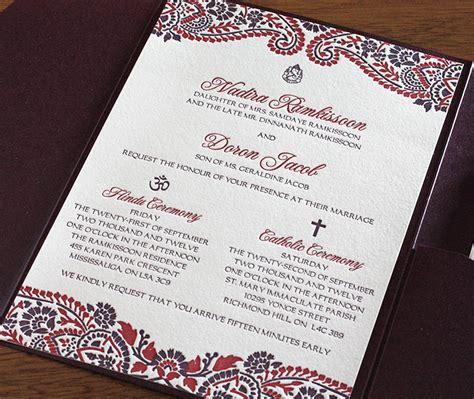 indian catholic wedding invitation cards mehndi indian letterpress wedding card naija