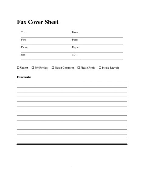 free fax cover sheet templates fax cover sheet template lisamaurodesign