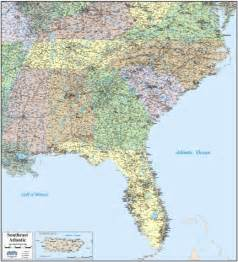map of southeast coast united states southeast state map