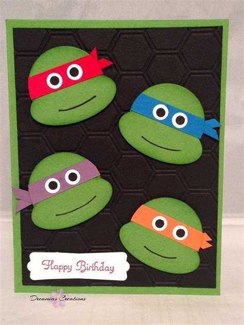 printable birthday cards ninja turtles 262 best images about stin up kid s cards on pinterest