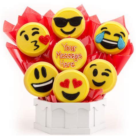 Cute Housewarming Gifts emoji cookies emoji gifts cookies by design
